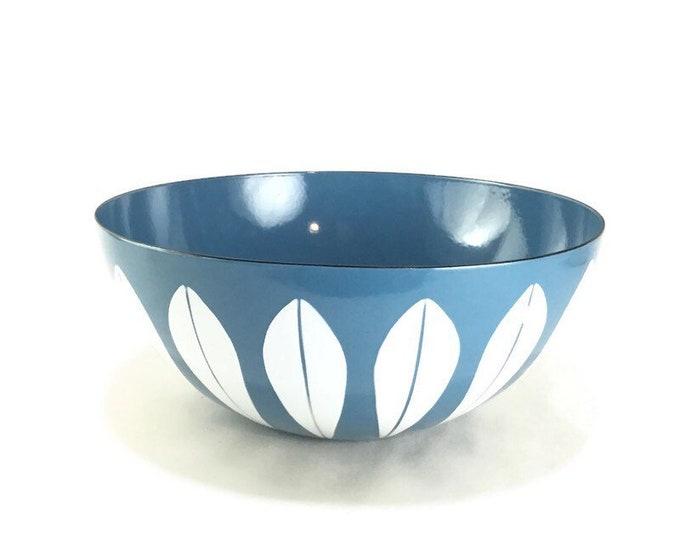 "Vintage 11"" Cathrineholm White on Blue Lotus Bowl"