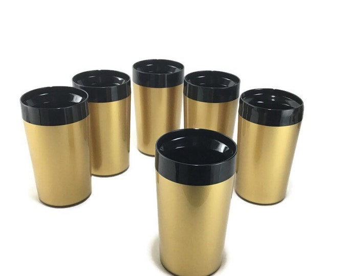 Vintage West Bend Thermo Serve Insulated Tumblers * Set of 6