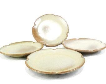Vintage Frankoma Plainsman Gold 5E Saucer Plates