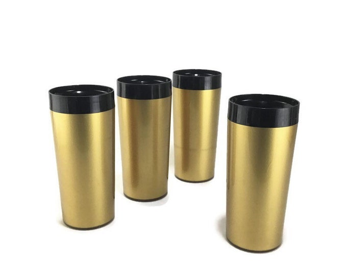 Vintage West Bend Thermo Serve Insulated Tumblers * Set of 4