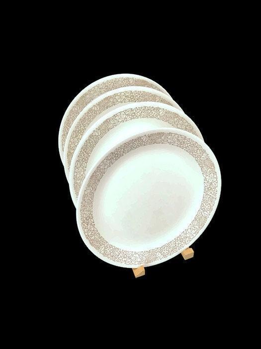 Vintage Corelle Dinnerware * Woodland Brown * Set of 4 Dinner Plates ...