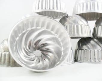 Vintage Aluminum Gelatine Molds * Set of 4 * Jello Molds