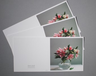 Lillie's still life photographic card, blank card, note cards, still life photography