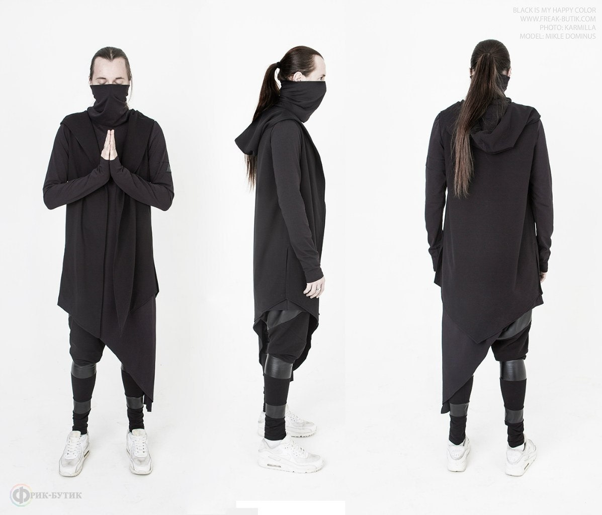Tunic Ghetto ninja long Туника Ghetto ninja | Etsy