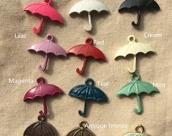 6 colors of  umbrella charm 1467-20x19mm-mix color-you can choose the color
