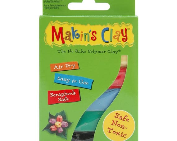 Makins Air Dry clay, multi color packs perfect for creating light arts & crafts project including dolls, jewelry and more its even paintable