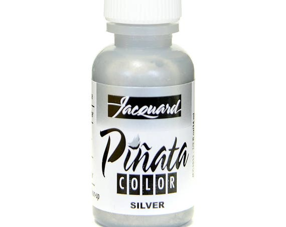 Silver Jacquard Pinata Alcohol Ink alcohol based high vibrancy transparent colors. Perfect for polymer clay & more