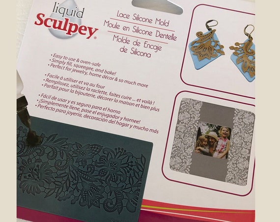 Sculpey's Beautiful Lace Silicone mold mats perfect for liquid polymer clay you can even bake right in the mold