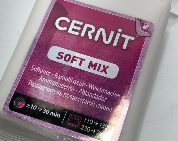 Soft Mix, Polymer Clay softener by Cernit will improve hard, or crumbly polymer clay.