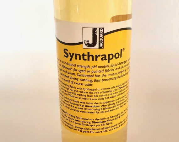 Synthrapol, Dye fixer and use for sizing and Dye removal for use on hand dyed fabrics, tie dyes and dyebaths.