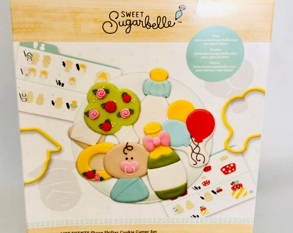Sweet Sugarbelle 29 piece Life Events cookie cutters make any event fun, weddings, baby showers, graduations and more