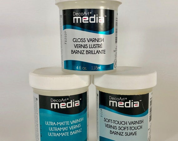 Media Varnish in 3 finishes from Ultra-Matte, Soft Touch to Gloss finishes  2oz varnish perfect for polymer clay and other crafts