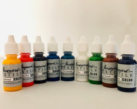 Jacquard Textile paints 9/Pkg squeeze bottles perfect for both perfect fabrics and paper