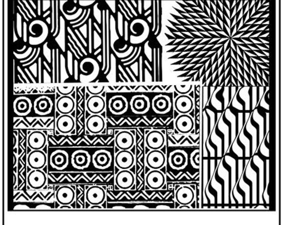 Four Play fine art texture stamp by Helen Breil. stamp great for polymer clay, resin clay, stamping and embossings