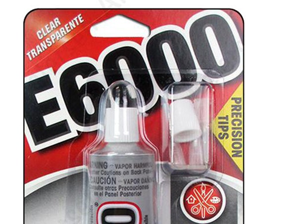 E6000 with Precision Tips and  1 oz for Jewelry, Beads and multi craft Glue by Eclectic Adhesive