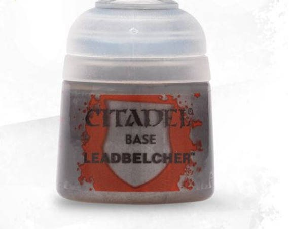 Citadel leadbelcher base acrylic paint for polymer clay, miniature, steampunk Base paints are formulated to base coating quickly & easily