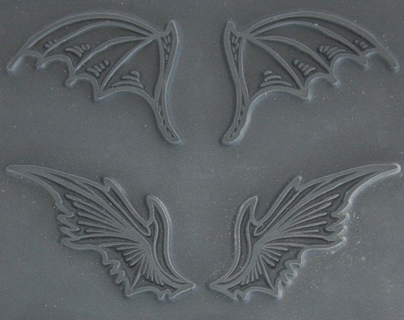 Fantasy Wings Unmounted stamp great for polymer clay and other crafts designed by Christi Friesen