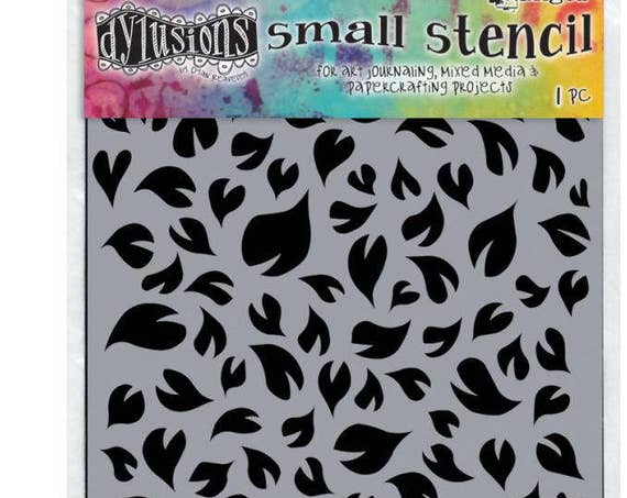 "Dyan Reaveley's Dylusions Stencils 5""X8""  small groovy leaves design perfect for mixed media, scrapbooking, journaling and so much more"