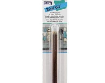 Amaco Bead piercing pins refill set 25 pack, perfect for use with Amaco bead rollers and baking set