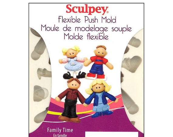 Family time push mold, family push molds by sculpey includes boy, girls, man, woman, men