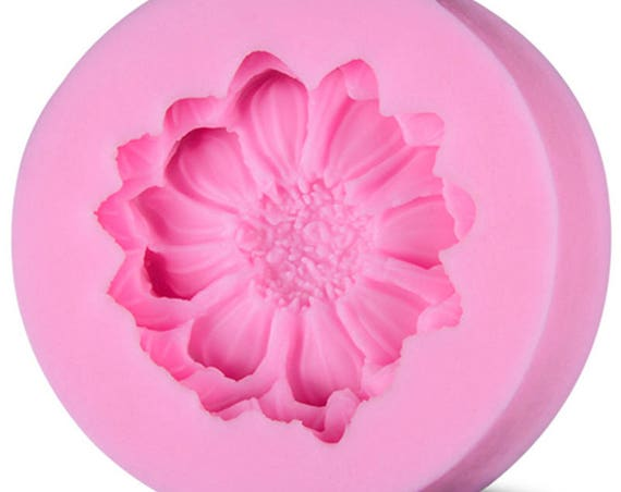 Flower blossom mold 3D food safe silicon push mold for fondant, cake decorating, and polymer clay