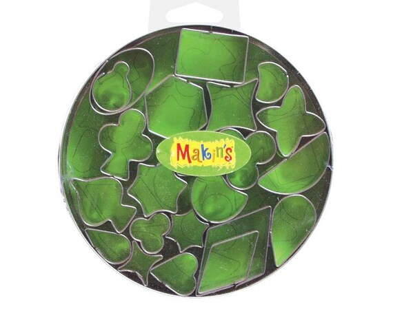 22 piece set of MAKIN'S-geometric shape cutters, perfect for polymer clay, fondant or other creative crafting
