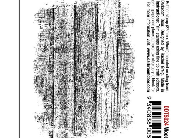 Woodgrain, unmounted rubber stamp this wood plank, stamp will create a wonderful woodgrain look perfect for many organic or rustic looks