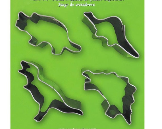 Makins 4 piece Dinosaurs cookie or clay cutter set