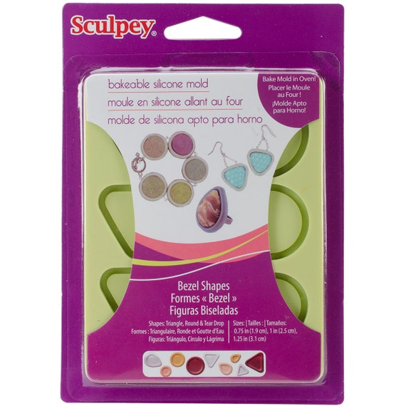 New redesigned Sculpey silicone Bezel mold shapes by sculpey make your own bezels molds