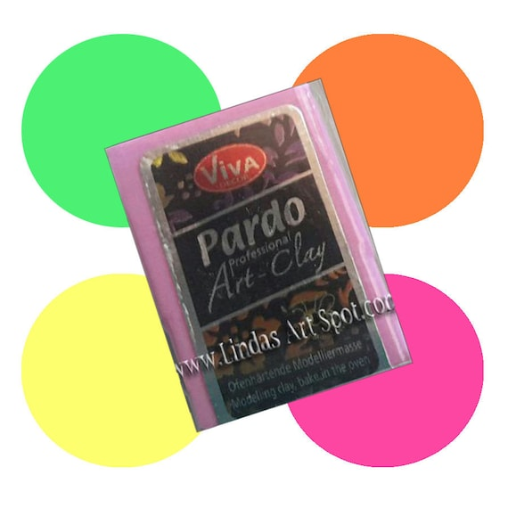 Pardo Neon Professional Jewlery Art Clay 56 gm - in Neon colors, make beautiful by Viva Decor
