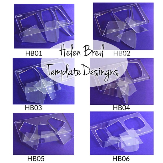 Complete 24 piece acrylic template collection of Helen Breil jewelry shape, make beautiful polymer clay jewelry, pendants and other crafts