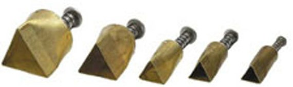 """Plunge style Triangle cutter by Kemper Klay Kutters  set of 5 triangles sizes 3/8"""" to 3/4"""""""