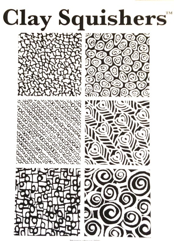 Clay Squishers #12, Shapes rubber stamp