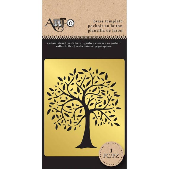 Beautiful brass metal tree stencil / template perfect for your  art projects