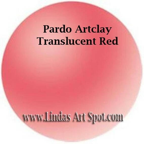 Pardo Translucent 2 oz (56g) bar  -RED Professional Art Clay by Viva Decor - make beautiful faux beach glass and more