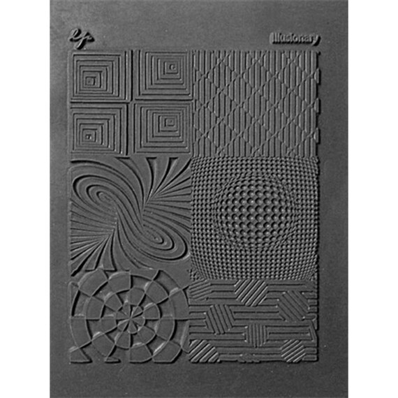 illusionary by Lisa Pavelka Unmounted stamp great for polymer claya resin clay, stamping and embossings
