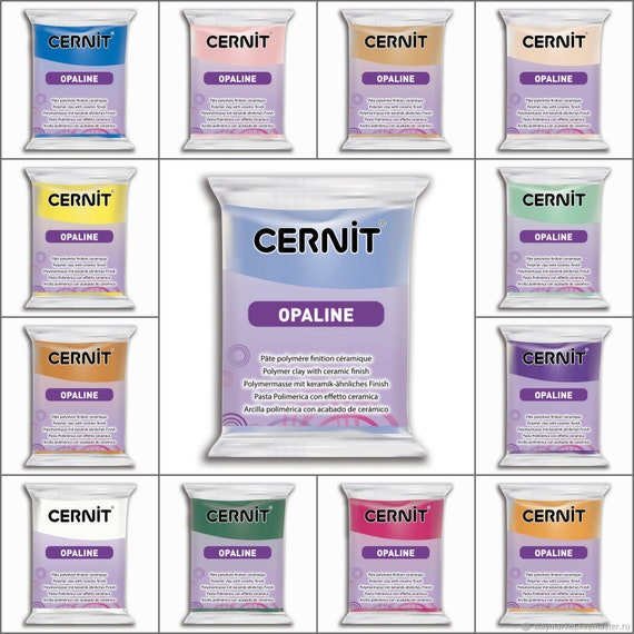 Cernit Opaline Polymer Clay offers a wonderful porcelain finish in 14 colors to choose from, perfect from crafters and professionals alike.