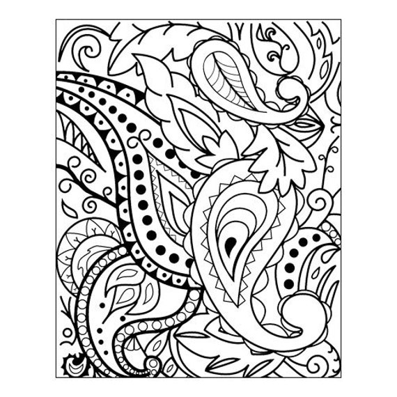 Paisley by Lisa Pavelka Unmounted stamp great for scrapbooking, polymer clay and other crafts
