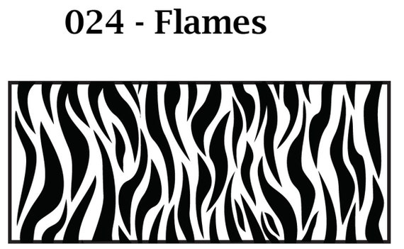 Kor Tools -024 Flames texture roller for polymer clay you keep the design rolling
