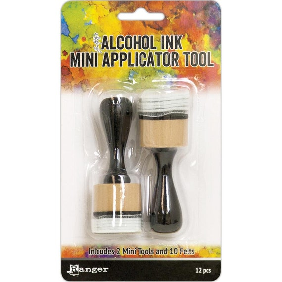"MINI 1"" round Alcohol ink applicator, this tool is perfect for precise, less free application of Alcohol Inks, Mixatives, Blending Solution"