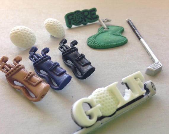 Golf set #1, embellishments for scrapbooking and other crafts