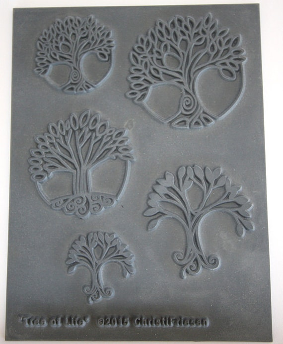 """2016 design by Christi Friesen """"tree of life"""" an Unmounted stamp great for polymer clay and other crafts"""
