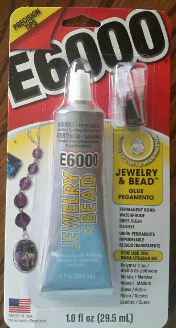 E6000 with Precision Tips and  1 oz Jewelry and Bead Glue by Eclectic Adhesive