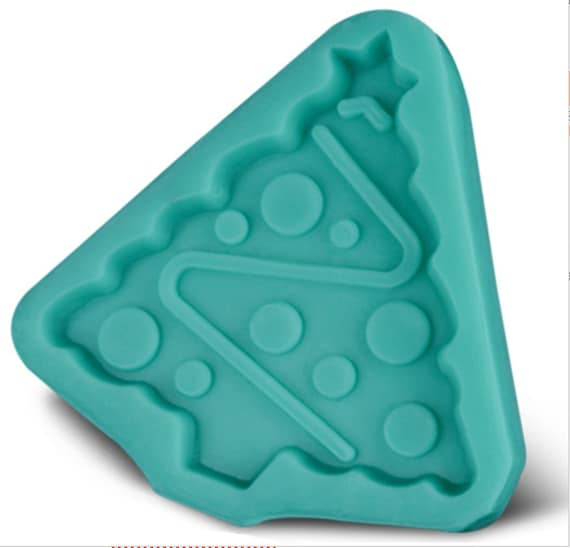Christmas Tree 3D food safe silicon push mold for fondant, cake decorating, and polymer clay