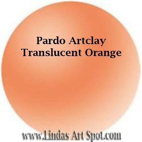 Pardo Translucent -Orange Professional Art Clay by Viva Decor - make beautiful faux beach glass and more