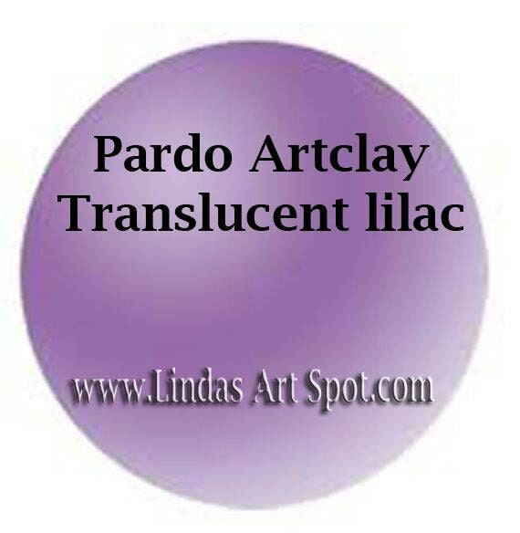 Pardo Translucent -LILAC Professional Art Clay by Viva Decor - make beautiful faux beach glass and more
