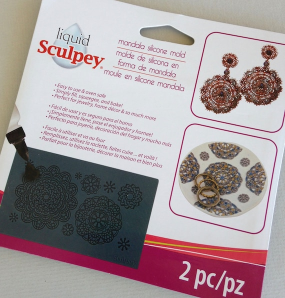 Sculpey's Beautiful Mandella Silicone mold mats perfect for liquid polymer clay you can even bake right in the mold