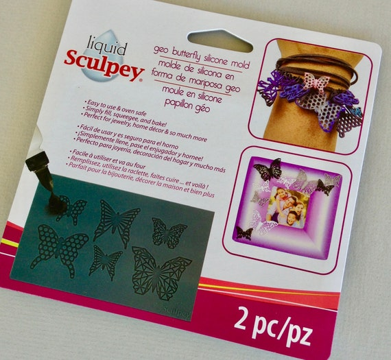 Sculpey's Beautiful Geo butterfly Silicone mold mats perfect for liquid polymer clay you can even bake right in the mold