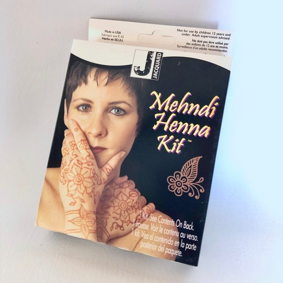 Mehndi temporary Henna body Art Kit by Jacquard with Henna powder and Eucalyptus oil