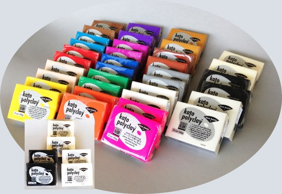 Kato 2 by 2 plus 6 kit says it all your get 42 BARS of kato clay. 2 bars of each of the 18 colors with 2 EXTRA ea white, black, translucent